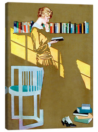 Tela  Read before the Bookshelf - Clarence Coles Phillips