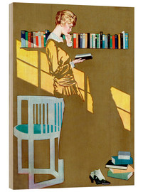 Legno  Read before the Bookshelf - Clarence Coles Phillips