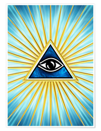 Poster Premium All Seeing Eye Of God, Symbol Omniscience