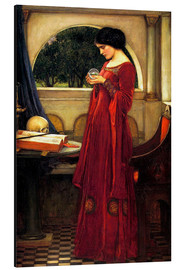 Alluminio Dibond  La sfera di cristallo - John William Waterhouse