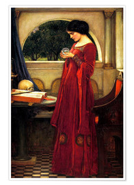 Poster Premium  La sfera di cristallo - John William Waterhouse