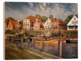 Stampa su legno  Trawler in the fishing port Greetsiel - Peter Roder
