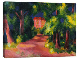 Stampa su tela  The red house at the park - August Macke