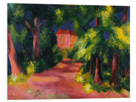 Stampa su schiuma dura  The red house at the park - August Macke