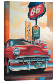 Stampa su tela  Route 66 Cafe - Georg Huber
