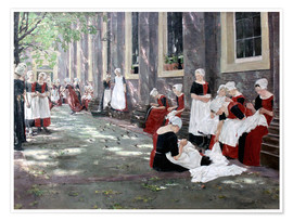 Poster Premium  Orphanage in Amsterdam - Max Liebermann