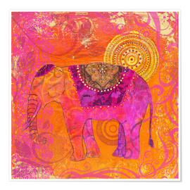 Poster Premium happy Elephant III