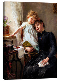 Stampa su tela  The little seamstress - Paul Hermann Wagner