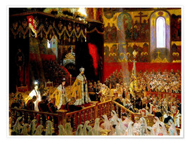 Poster Premium  Coronation of Nicholas II. And Alexandra Fjdorownas - Laurits Regner Tuxen