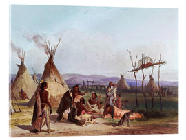 Vetro acrilico  Camp of Native Americans - Karl Bodmer