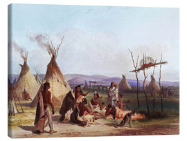 Stampa su tela  Camp of Native Americans - Karl Bodmer