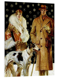 Forex  Couple with a greyhound - Joseph Christian Leyendecker