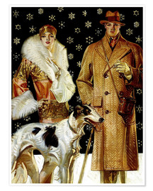 Joseph Christian Leyendecker - Couple with a greyhound