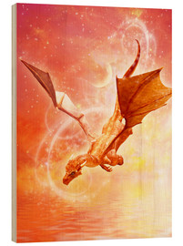 Stampa su legno  Dragon Flight - Dolphins DreamDesign