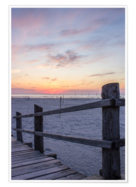 Poster  Jetty into the sea from St Peter Ording - Dennis Stracke