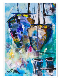 Poster Premium  coloured Boats - Diana Linsse