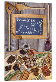 Stampa su vetro acrilico  Spices in different languages - Thomas Klee