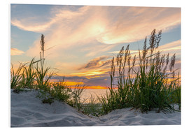 Stampa su schiuma dura  Beach of the Baltic Sea during Sunset - Markus Ulrich