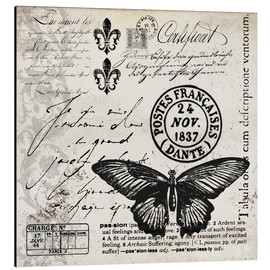 Stampa su alluminio  Vintages Butterfly - Andrea Haase