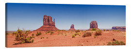Stampa su tela  Monument Valley USA Panorama I - Melanie Viola