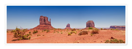 Poster Premium  Monument Valley USA Panorama I - Melanie Viola