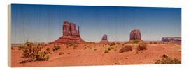 Legno  Monument Valley USA Panorama I - Melanie Viola