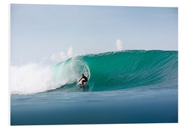 Stampa su PVC  Surfer in paradise - big green surfing wave - Paul Kennedy