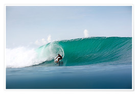 Poster Premium  Surfer in paradise - big green surfing wave - Paul Kennedy