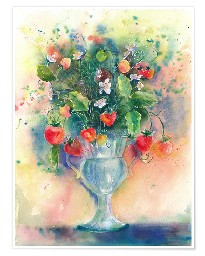 Poster Premium Strawberry bouquet