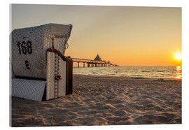 Stampa su vetro acrilico  Beach chair on Usedom - Dennis Stracke