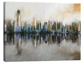 Stampa su tela  new york skyline abstract painting - Michael artefacti