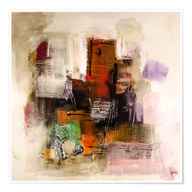 Poster Premium Abstract painting on canvas - modern and contemporary