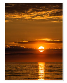 Poster Premium Sunset on shore of the Baltic Sea