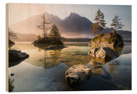 Stampa su legno  Hintersee German Alps - Richard Grando