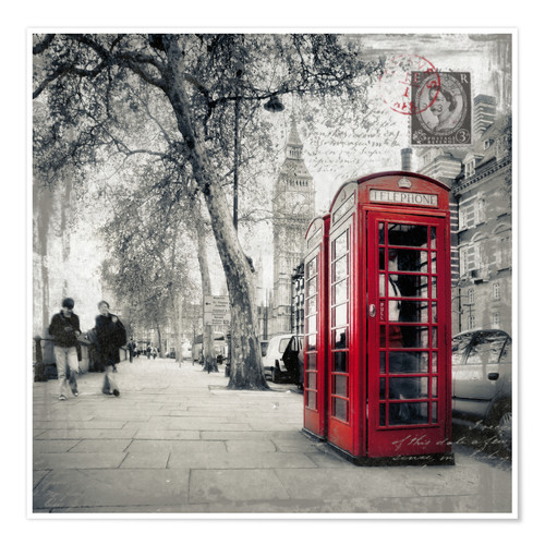 Poster Premium Postcard From London | 01