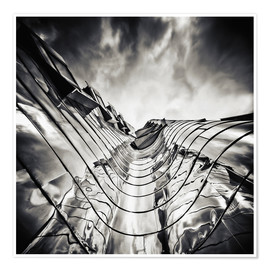 Poster Premium Gehry Duesseldorf | 03 (monochrome)
