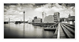 Poster Premium Typical Duesseldorf | 01 (b/w)