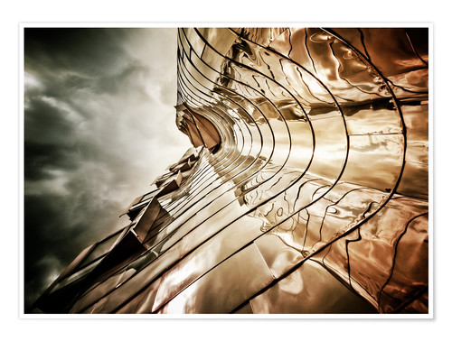 Poster Premium Gehry Duesseldorf | 03 (landscape)