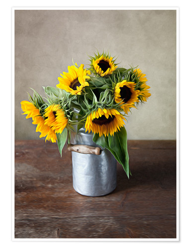 Poster Premium Sunflowers 02
