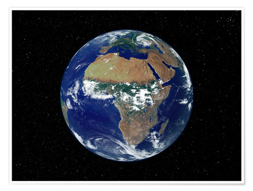 Poster Premium Earth - Africa and Europe