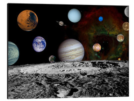 Stampa su alluminio  Montage of the planets