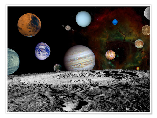 Poster Premium Montage of the planets