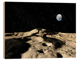 Stampa su legno  An old lava flow on the earths moon - Ron Miller