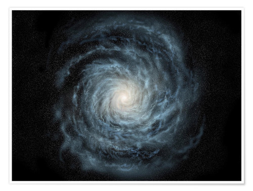 Poster Premium face-on view of the Milky Way