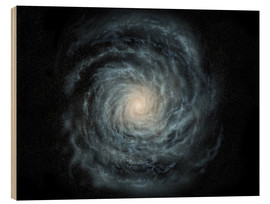 Stampa su legno  face-on view of the Milky Way - Ron Miller