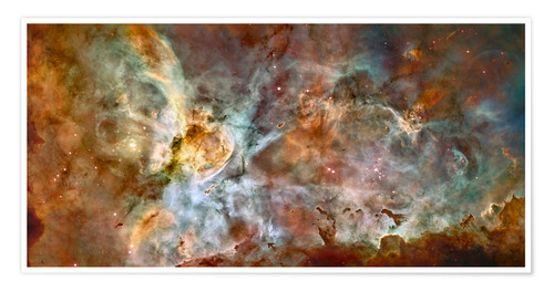 Poster Premium The central region of the Carina Nebula