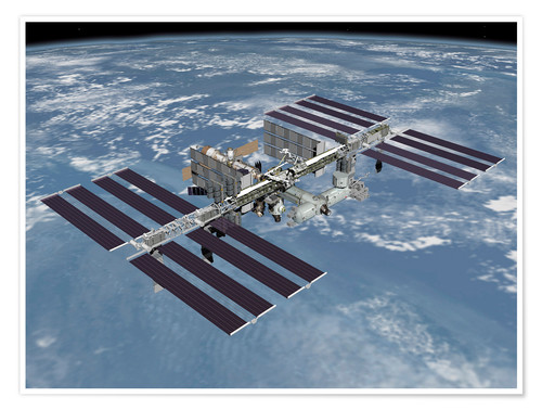 Poster Premium International space station ISS