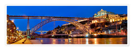 Poster  Porto Portugal, bridge Dom Luis - Fine Art Images