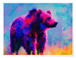 Poster Premium Grizzly Bear