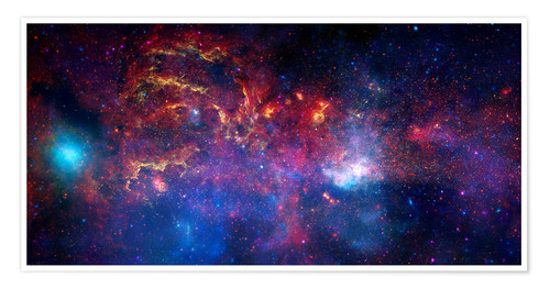 Poster Premium central region of the Milky Way galaxy